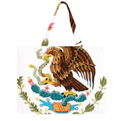 Coat Of Arms Of Mexico  Large Tote Bag