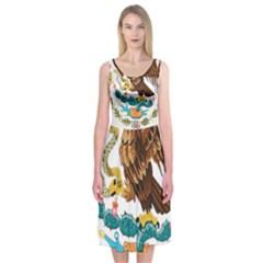Coat Of Arms Of Mexico  Midi Sleeveless Dress