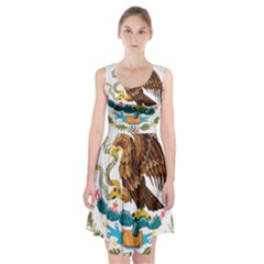Coat Of Arms Of Mexico  Racerback Midi Dress