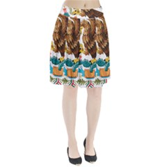 Coat Of Arms Of Mexico  Pleated Skirt