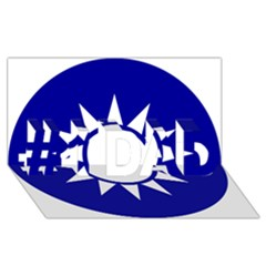 Taiwan National Emblem  #1 DAD 3D Greeting Card (8x4)