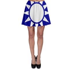 Taiwan National Emblem  Skater Skirt