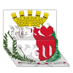 Coat Of Arms Of Malta  Miss You 3D Greeting Card (7x5)