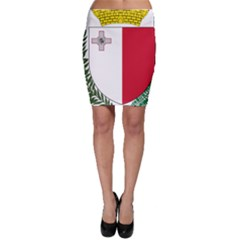 Coat Of Arms Of Malta  Bodycon Skirt
