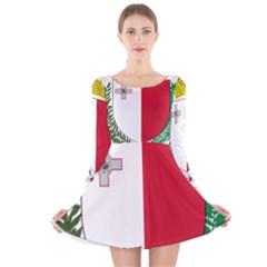 Coat Of Arms Of Malta  Long Sleeve Velvet Skater Dress