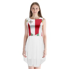 Coat Of Arms Of Malta  Sleeveless Chiffon Dress