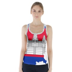 Flag Map Of Cambodia Racer Back Sports Top