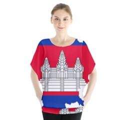 Flag Map Of Cambodia Blouse