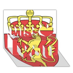 Coat Of Arms Of Norway  Miss You 3D Greeting Card (7x5)