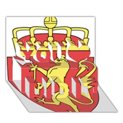Coat Of Arms Of Norway  You Did It 3D Greeting Card (7x5)