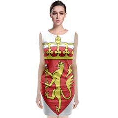 Coat Of Arms Of Norway  Classic Sleeveless Midi Dress