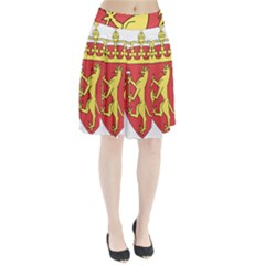 Coat Of Arms Of Norway  Pleated Skirt