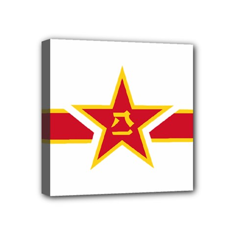 Roundel Of The People s Liberation Army Air Force Mini Canvas 4  x 4
