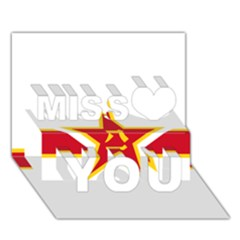 Roundel Of The People s Liberation Army Air Force Miss You 3D Greeting Card (7x5)