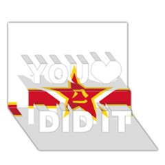 Roundel Of The People s Liberation Army Air Force You Did It 3D Greeting Card (7x5)