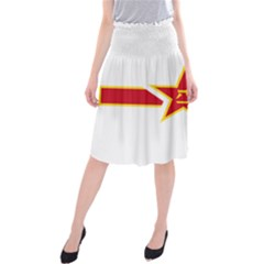 Roundel Of The People s Liberation Army Air Force Midi Beach Skirt