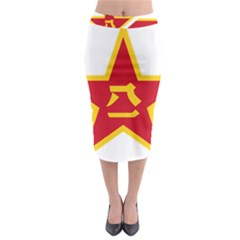 Roundel Of The People s Liberation Army Air Force Midi Pencil Skirt