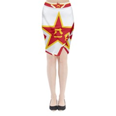 Roundel Of The People s Liberation Army Air Force Midi Wrap Pencil Skirt
