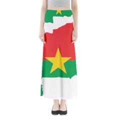 Flag Map Of Burkina Faso  Maxi Skirts