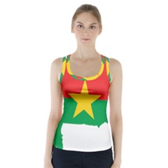 Flag Map Of Burkina Faso  Racer Back Sports Top