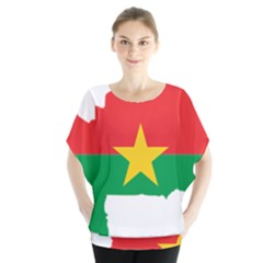 Flag Map Of Burkina Faso  Blouse