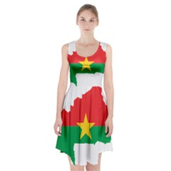 Flag Map Of Burkina Faso  Racerback Midi Dress