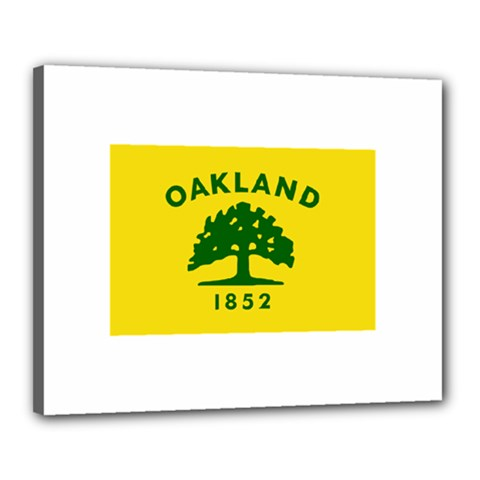 Flag Of Oakland, California Canvas 20  x 16