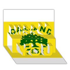 Flag Of Oakland, California Miss You 3D Greeting Card (7x5)