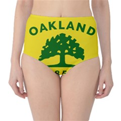 Flag Of Oakland, California High-Waist Bikini Bottoms