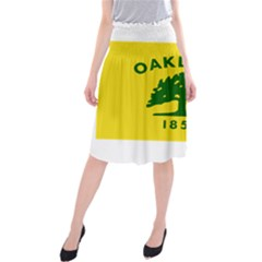 Flag Of Oakland, California Midi Beach Skirt