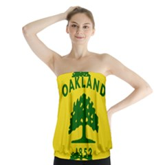 Flag Of Oakland, California Strapless Top