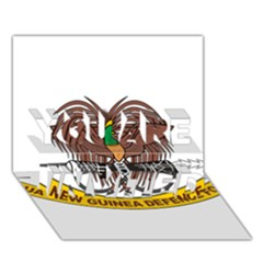 Papua New Guinea Defence Force Emblem YOU ARE INVITED 3D Greeting Card (7x5)