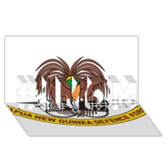 Papua New Guinea Defence Force Emblem #1 MOM 3D Greeting Cards (8x4)