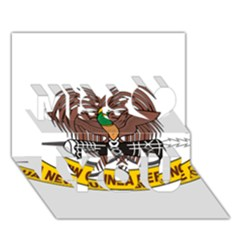 Papua New Guinea Defence Force Emblem Miss You 3D Greeting Card (7x5)