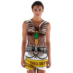 Papua New Guinea Defence Force Emblem Wrap Front Bodycon Dress