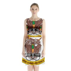 Papua New Guinea Defence Force Emblem Sleeveless Waist Tie Dress