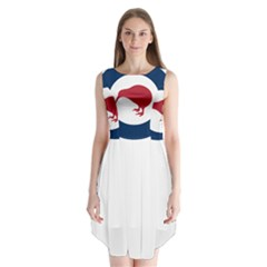 Roundel Of New Zealand Air Force Sleeveless Chiffon Dress