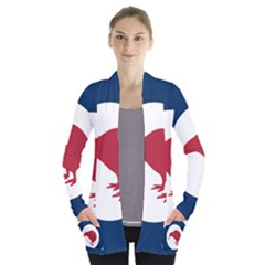 Roundel Of New Zealand Air Force Women s Open Front Pockets Cardigan(P194)
