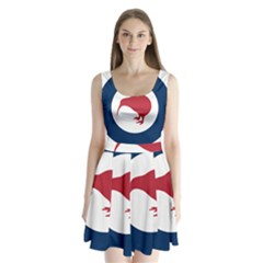 Roundel Of New Zealand Air Force Split Back Mini Dress