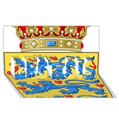 National Coat Of Arms Of Denmark BEST SIS 3D Greeting Card (8x4)