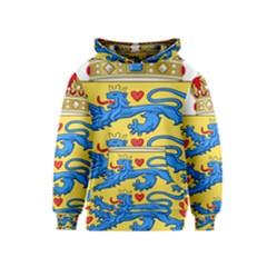 National Coat Of Arms Of Denmark Kids  Pullover Hoodie