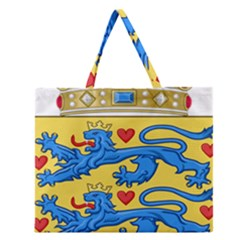 National Coat Of Arms Of Denmark Zipper Large Tote Bag