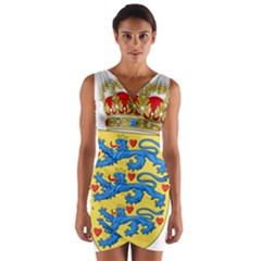 National Coat Of Arms Of Denmark Wrap Front Bodycon Dress