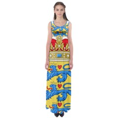 National Coat Of Arms Of Denmark Empire Waist Maxi Dress
