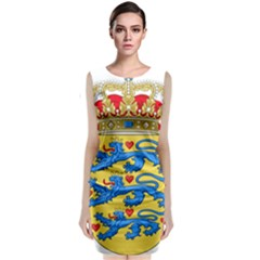 National Coat Of Arms Of Denmark Classic Sleeveless Midi Dress