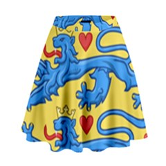 National Coat Of Arms Of Denmark High Waist Skirt