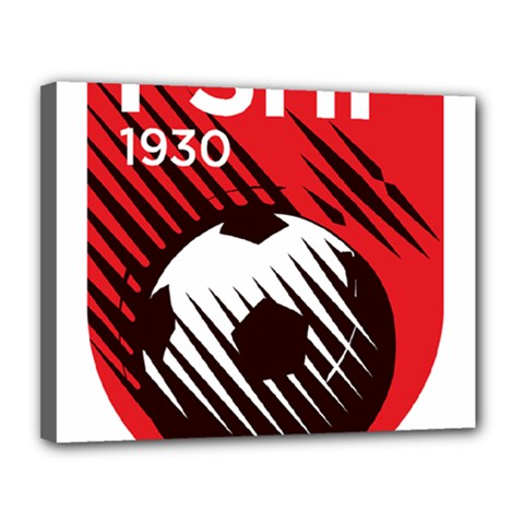 Crest Of The Albanian National Football Team Canvas 14  X 11