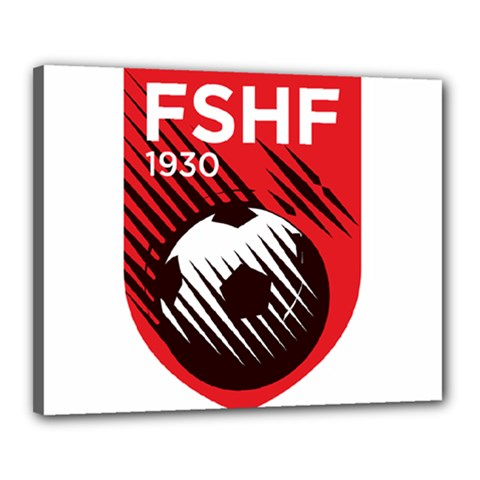 Crest Of The Albanian National Football Team Canvas 20  X 16