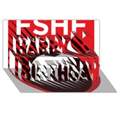 Crest Of The Albanian National Football Team Happy Birthday 3d Greeting Card (8x4)