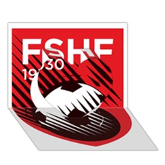 Crest Of The Albanian National Football Team Heart 3d Greeting Card (7x5)